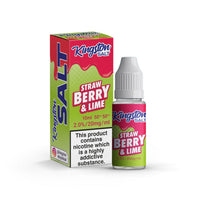 Strawberry & Lime Nic Salt by Kingston - Short Fills UK