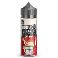 Moreish as Flawless Strawberry Banana 100ml Short Fill E-liquid