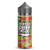 Strawberry and Kiwi Chilled E-liquid by Moreish Puff 100ml Short Fill