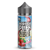 Moreish Puff Summer Cider on Ice Strawberry 0mg 100ml Short Fill E-Liquid