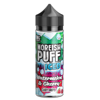 Moreish Puff Iced Watermelon & Cherry Candy Drops 0mg 100ml Short Fill E-Liquid