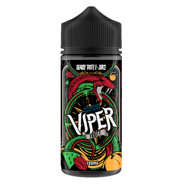 Viper E-Juice Watermelon Peach Lychee 0mg 100ml Short Fill E-Liquid