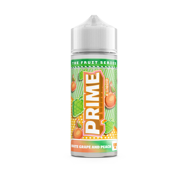 Prime E-Liquids White Grape & Peach 0mg 100ml Short Fill E-Liquid