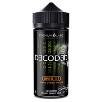 Decoded - Area 51 E-liquid by Premium Labs 100ml Short Fill