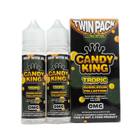 Candy King Twin Pack Bubblegum Collection Tropic 50ml Short Fills