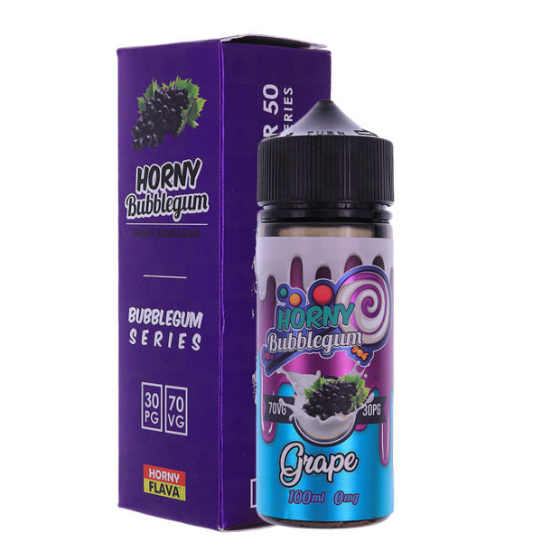 Grape Bubblegum E-liquid by Horny Flava 100ml Short Fill