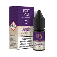 Pod Jammin Blueberry Jam Tart Nic Salt by My Vapery 10ml