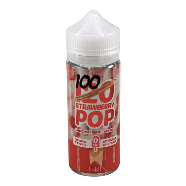 Mad Hatter Strawberry Pop 100 0mg E-Liquid 100ml Shortfill