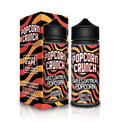 Sweet Oatmeal Popcorn by Popcorn Crunch 100ml Short Fill