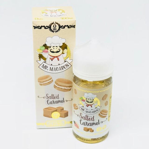 Salted Caramel By Mr. Macaron 0Mg Shortfill - 100Ml - Nic Shots
