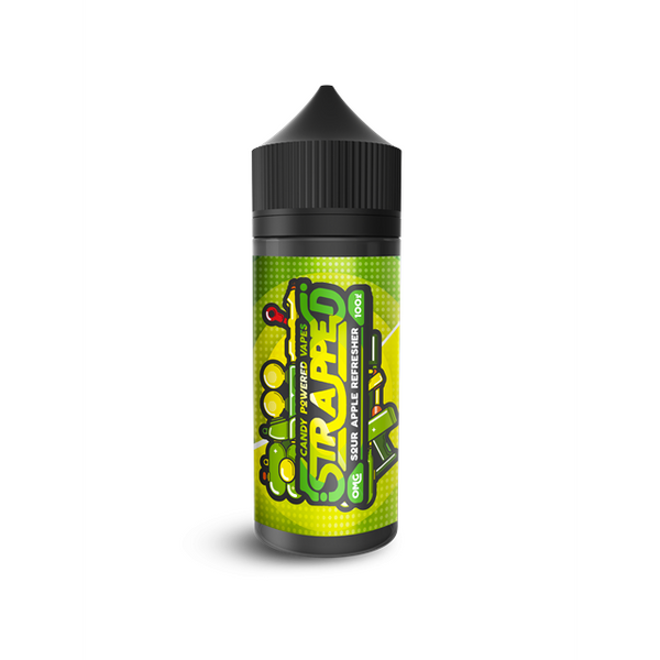 Strapped Sour Apple Refreshers E-Liquid Short Fill