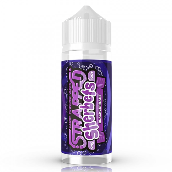 Strapped Blackcurrant Sherbet 0mg 100ml Short Fill E-Liquid