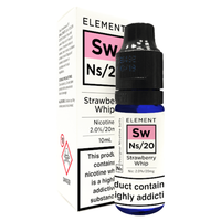 Strawberry Whip Nic Salt by Element 10ml