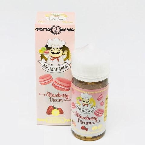 Strawberry Cream By Mr. Macaron 0Mg Shortfill - 100Ml - Nic Shots