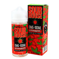 Sour Strawberry E-liquid by Sour House 100ml Short Fill