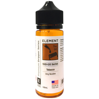 Tobacco Eliquid by Element 0mg 100ml Short Fill