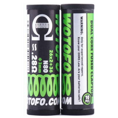 Wotofo Dual Core Fused Clapton Ni80 3mm - 0.90ohm 10pcs
