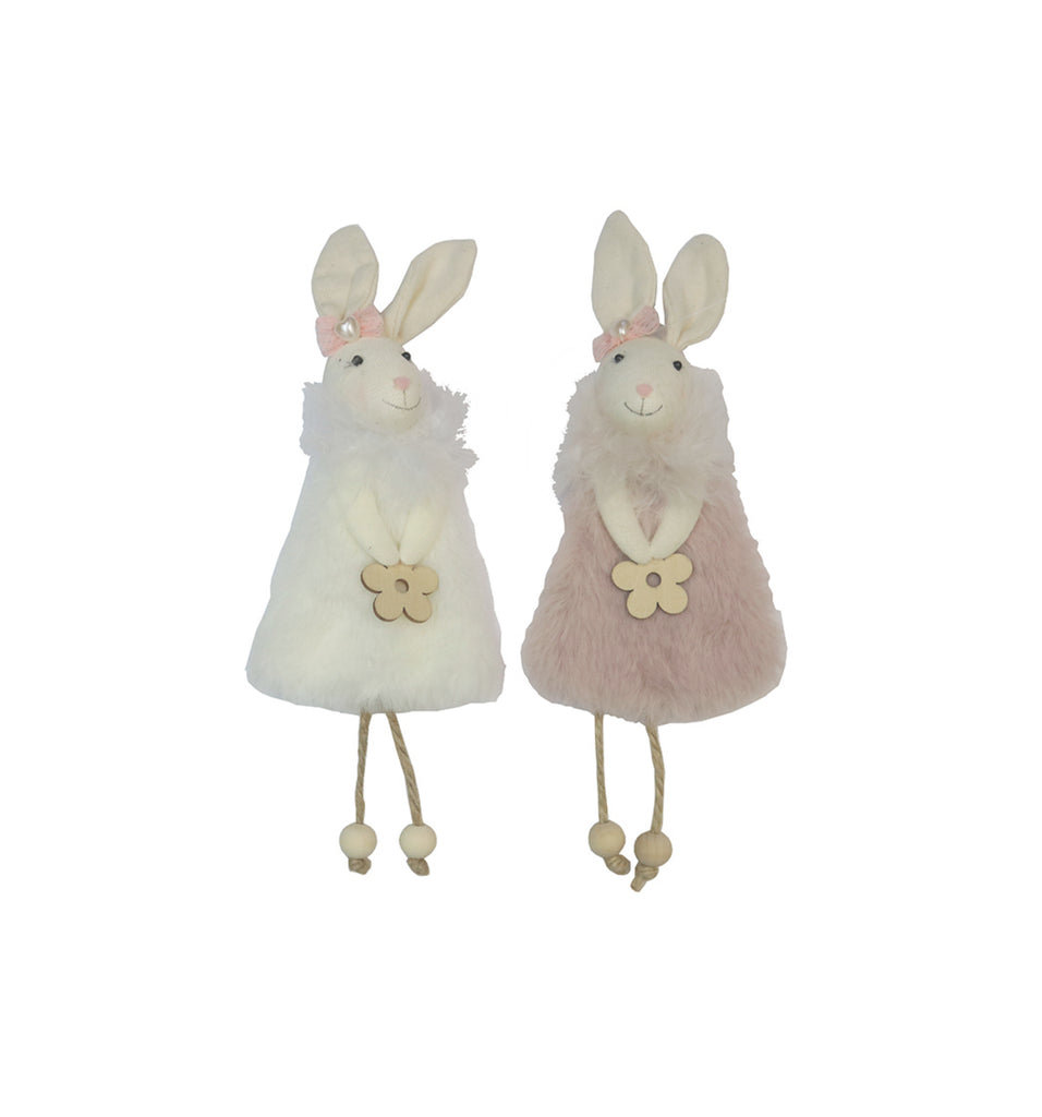 Aunty Ester Bunnies - Ivory and Blush