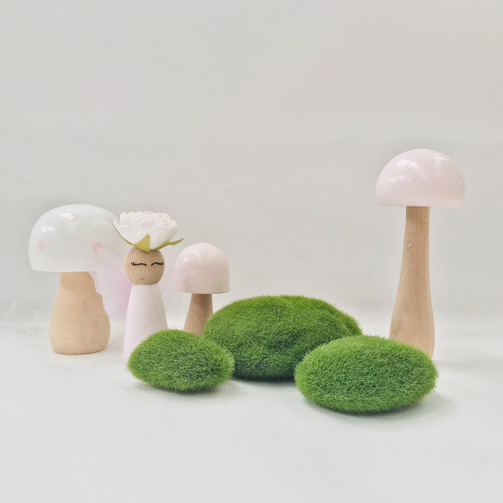 Faux Moss Rock - Pk of 3