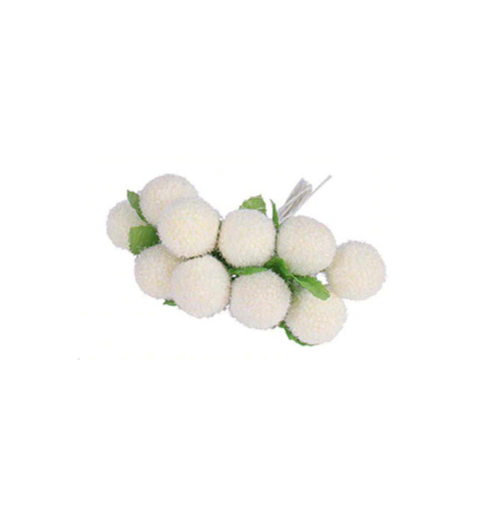 Pom Pom Flowers - Pk of 3