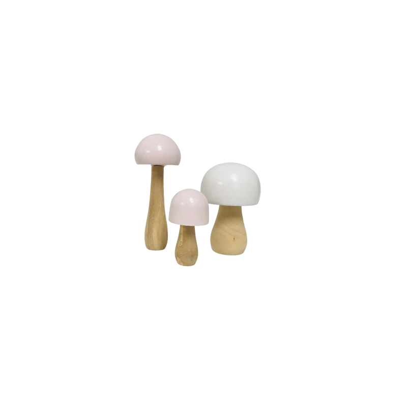 Wooden Toadstools - Set of 3