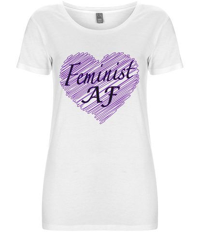 Feminist Af - Women's T-shirt - Eco Tee Shack