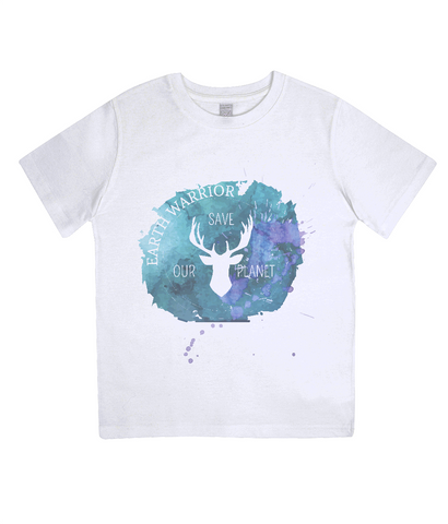 Earth Warrior - Junior Organic T-shirt - Eco Tee Shack