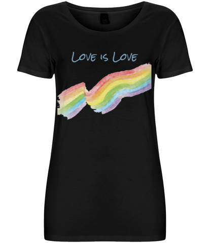 Love is Love - Women's T-shirt - Eco Tee Shack