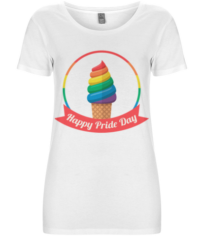 Happy Pride day Ice-cream Women's Tee - Eco Tee Shack