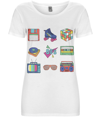 80's Retro Women's T-shirt - Eco Tee Shack
