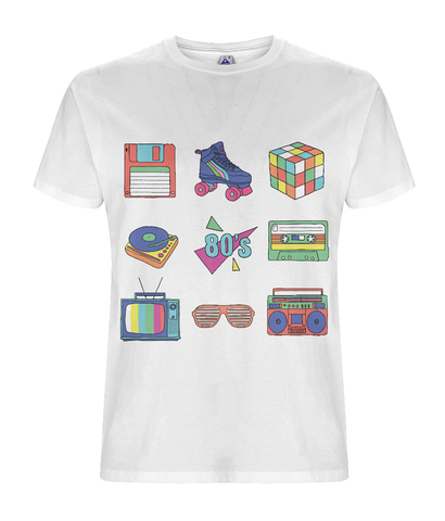 80's Retro T-shirt - Eco Tee Shack