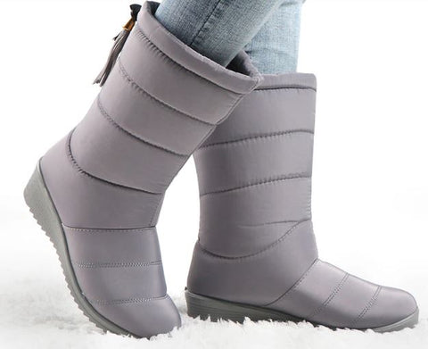 Waterproof Mid-Calf Down Winter Boots