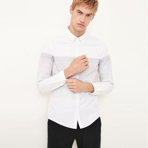 Casual Slim Fit Long Sleeve Men Shirt