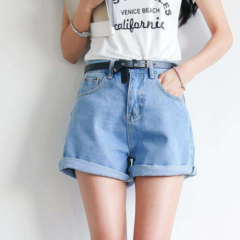 Denim Casual Pocket Jean Shorts