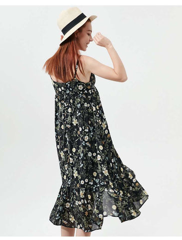 Boho Beach Casual Strap Bohemian Floral Dress