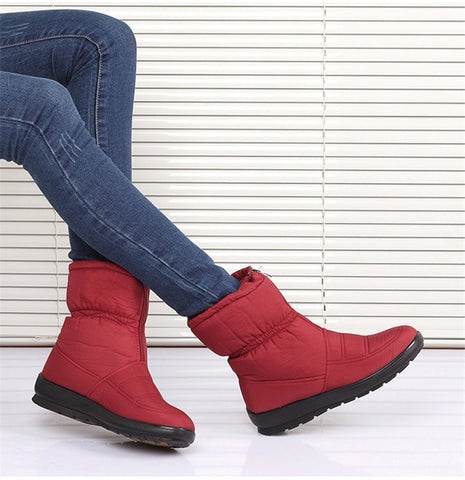 Waterproof Plush Insole Fur Ankle Winter Boots