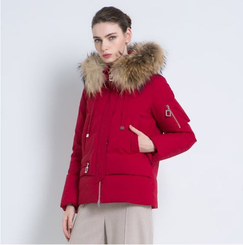 Fur Collar High Quality Warm Women Winter Coat Parka