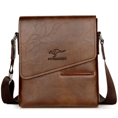 Vintage Leather Waterproof Messenger Shoulder Bag