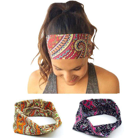Cotton Wide Women Flower Headband Hair Accessories