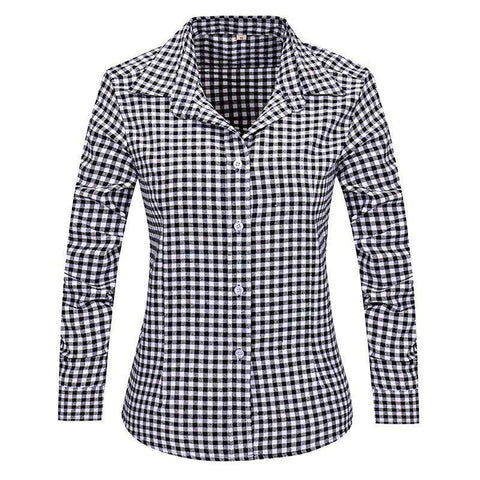 Plaid Women Shirts Long Sleeve Flannel
