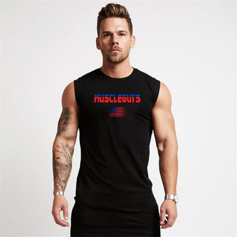 Sleeveless Vest Men Casual Gyms Tank Top
