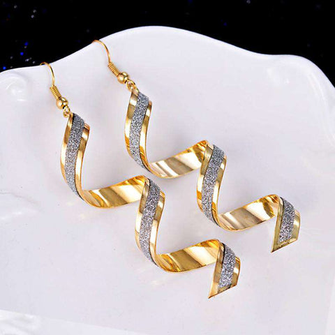 Women Twist Spiral Earring