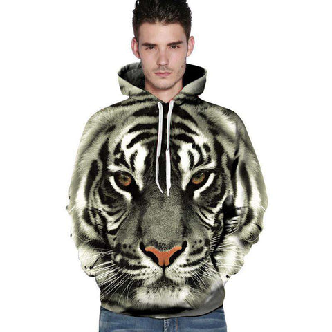 Hoodies 3D Tiger Lion Leopard Sweatshirt Casual For Men