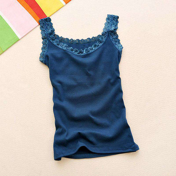 Summer Women Sleeveless Lace Sexy Tops Fashion Multicolors Strap Tank