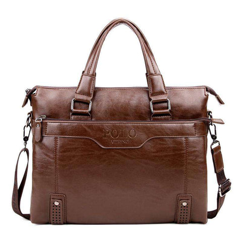 Genuine Leather Business Handbag Men's Briefcase Bag