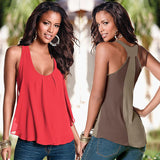 Sleeveless Chiffon Camisole Plus Size woman Tank Tops