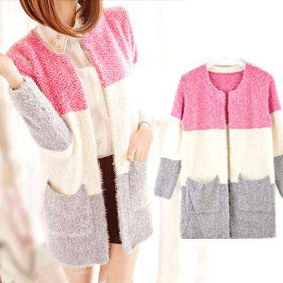 Long Sleeve Mohair Casual Cardigan