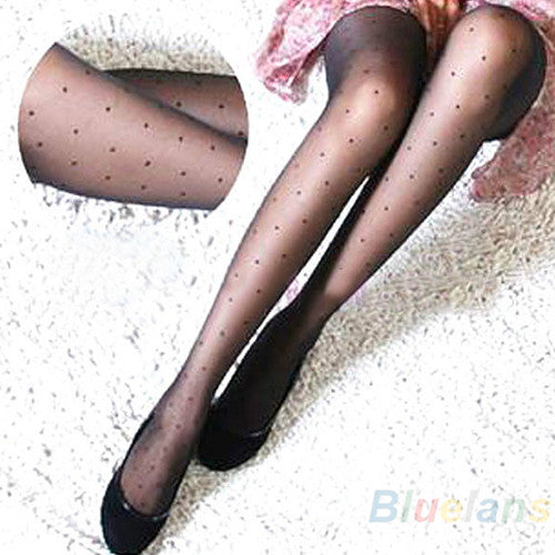 Sheer Lace Small Dot Pantyhose Stockings Tights