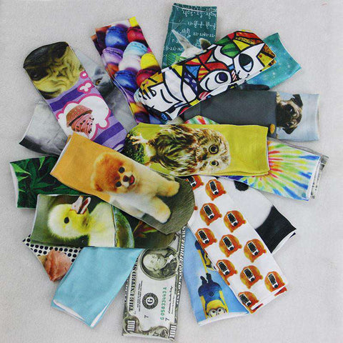 Casual Character Cotton Socks for Women