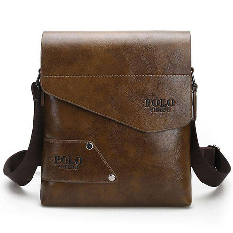 Fashion Brand Men's Business Bags PU Leather Man Handbags